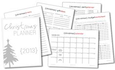 2013 Christmas Planner {101 Days of Christmas at lifeyourway.net}