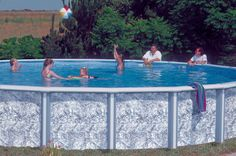 Doughboy Pool (kids not included) pool idea, ground pool, doughboy pool