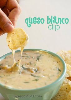 big red clifford: the best queso blanco dip recipe