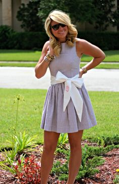 monogrammed sash from just dandy