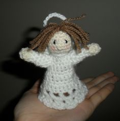 Christmas tree angel free crochet pattern