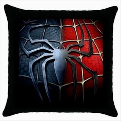 SPIDERMAN Quality Black Cushion Cover Throw Pillow Case Gift http://stores.shop.ebay.co.uk/giftbazaar