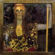 Pallas Athene by Gustav Klimt palla athena, 1898, goddesses, gustav klimt, paint, artist, gustavklimt, canvases, oil