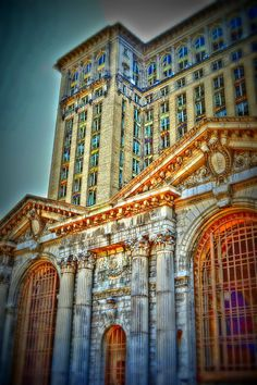 Detroit Michigan Central Abandoned Train Station