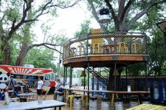 """""""On lower Greenville, this is a laid back patio/lawn chair area surrounded by food trucks, booze and music. I love a food truck, they remind me of New York!"""" – SJP 