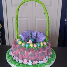strawberry cakes, easter recipes, food, art recipes, white cakes, basket cake, cake recipes, pork chops, easter basket