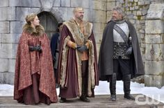 """Reign -- """"Long Live the King"""" -- Image Number: RE121a_0126.jpg -- Pictured (L-R): Megan Follows as Queen Catherine, Alan Van Sprang as King Henry and Gil Darnell as the The Duke of Guise -- Photo: Ben Mark Holzberg/The CW -- © 2014 The CW Network, LLC. All rights reserved."""
