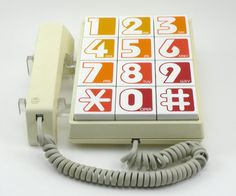 Vintage 1970s Western Electric Big Button Telephone by atomicashop
