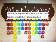 Birthday reminder board idea
