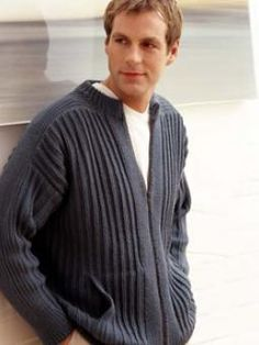 Free Rowan Pattern: Mans Zip Up Jacket