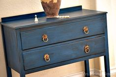 Transform a chest into a designer piece inspired by Veranda magazine with Chalky Finish.