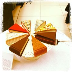 Book Cake Slices cake inspir, incred cake, book cakes, cake slice, book food
