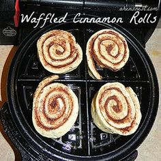 15 + Waffle Iron Recipes - Breakfast Day After! waffl cinnamon, cinnamon roll recipes, cinnamon rolls, breakfast, christmas morning, biscuits, waffle iron, kid, cinnamon roll waffles