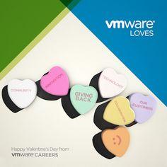 Happy Valentine's Day, from everyone at VMware! #vmwarecareers