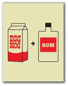 Egg nog+ Rum