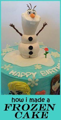 FROZEN! (how I made a Frozen cake)