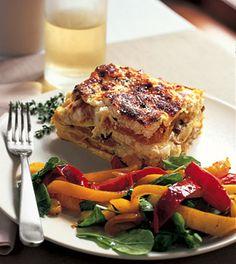 Butternut squash and mushroom lasagna