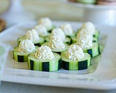Cucumber Bites with Garlic Herb Filling... Happy Hour Appetizers 19   Hampton Roads Happy Hour