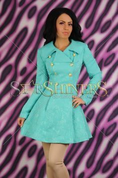 Trench LaDonna Magic Brodery Turquoise
