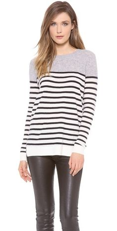 Vince Colorblock Breton Cashmere Sweater, available in our Novato store. So cozy!