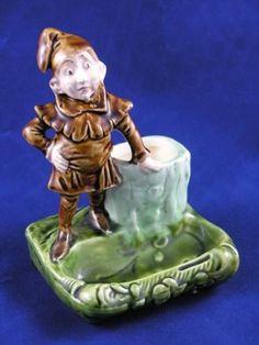 Rare German Majolica Pixie / Gnome Match Striker c.1900 | eBay