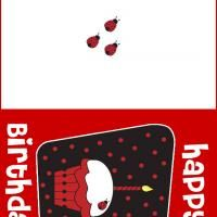 Bright Red Glowing Birthday Card! Print this for free and give it you your wonderful friend!