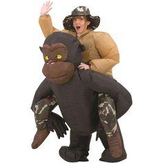 Inflatable Riding Gorilla Halloween Costume
