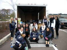 Chi Theta Pi recently coordinated a successful Hurricane Sandy relief project that collected a truckload of water, cleaning supplies, clothing, towels, blankets and plenty of non-perishable items. The sisters were especially touched by some of the stories from the townspeople who came up to support the event. Many shared stories of last year's Bloomsburg flood and empathized with the struggles they see in New Jersey and New York. #BUGreekLife