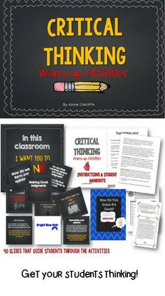 Get your students thinking with these critical thinking exercises!