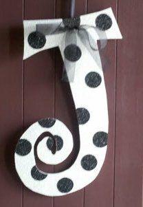Monograms  Door Art  Letter J (for Juli)