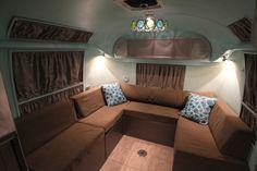1968 Airstream Overlander Vintage Camper Trailer, restoration by Brian Hartley, Design by Marietta Hartley