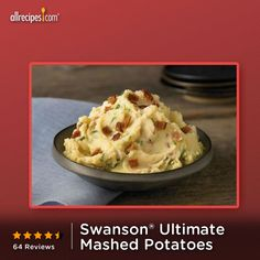 These creamy mashed potatoes with just the right amount of light cream, sour cream, chives, butter, bacon, and black pepper. Repin Swanson® Ultimate Mashed Potatoes. http://allrecipes.com/recipe/swanson-ultimate-mashed-potatoes/detail.aspx?lnkid=7171