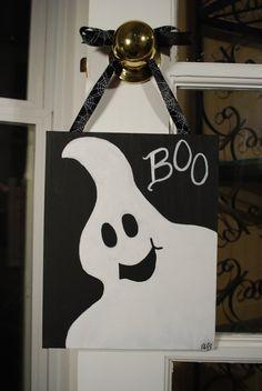 Halloween Ghost Canvas