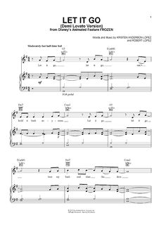 """Let It Go"" from 'Frozen' Sheet Music: www.onlinesheetmusiccom"