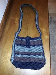 Over the shoulder crochet bag.
