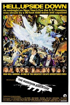 "MP844. ""The Poseidon Adventure"" Movie Poster by Mort Künstler (Ronald Neame 1972) / #Movieposter"