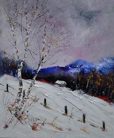 """Saatchi Online Artist: Pol Ledent; Oil, 2012, Painting """"winter 562121 SOLD"""""""