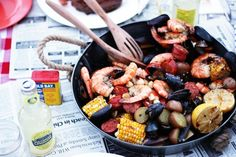 Seafood Boil on a grill
