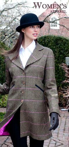 Burnt Orange Bloomsbury Women's Tweed Shooting Jacket. www