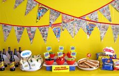 Superman Birthday party idea- comic books- great idea.