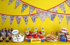 Superman Birthday party idea- comic books- great idea.