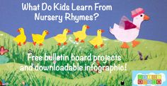 What Do Children Learn From Nursery Rhymes- And Two Free Mother Goose Bulletin Board Crafts!