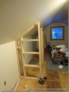 Attic Closet On Pinterest Eaves Storage Slanted Ceiling Closet And Attic B