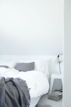 Interior Design Bedroom # white # grey  minimalist decor style