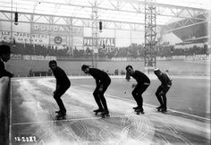 Sprint skating competition at Sports Palace, 1910. French National Library (Public Domain) http://www.europeana.eu/portal/record/9200103/9A2F98D796A134940E0BFD49C8F0B127D5ABBAD1.html