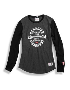 HBC Collections | Olympic Collection | Crest Graphic Raglan Top | Hudson's Bay