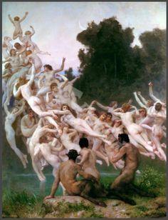 The Oreads -- Bouguereau