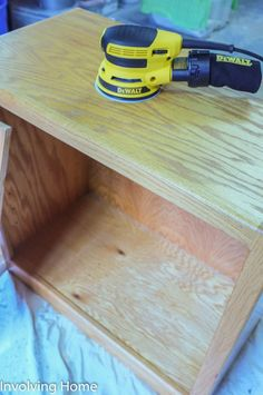 Prepping oak furniture for spray painting with Ace Blogger, @involvingcolor