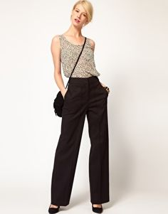 ASOS High Waist Trousers WIth Wide Leg