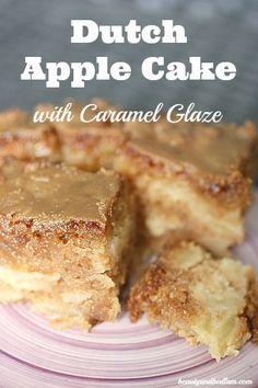 Dutch Apple Cake with Caramel Glaze @Jen (Balancing Beauty and Bedlam/10 Minute Dinners blogs) Dutch Apple Cake with Carmel Glaze